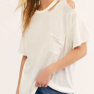Free People Distressed T-Shirt